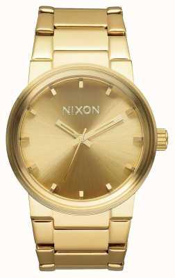 Nixon Cannon | todo el oro | pulsera de acero ip oro | esfera de oro A160-502-00