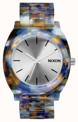Nixon Acetato contador de tiempo | acetato de acuarela | esfera plateada A327-1116-00