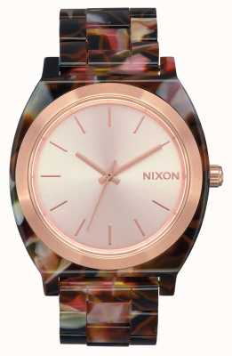 Nixon Acetato contador de tiempo | oro rosa / tortuga rosa | esfera de oro rosa A327-3233-00