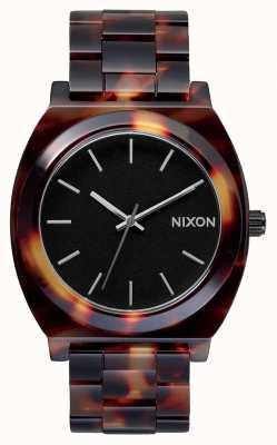 Nixon Acetato contador de tiempo | tortuga | esfera negra A327-646-00