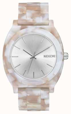 Nixon Acetato contador de tiempo | rosa / plata | esfera plateada A327-718-00