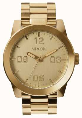 Nixon Corporal ss | todo el oro | pulsera de acero ip oro | esfera de oro A346-502-00