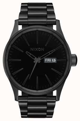 Nixon Sentry ss | todo negro / negro | pulsera de acero ip negro | esfera negra A356-1147-00