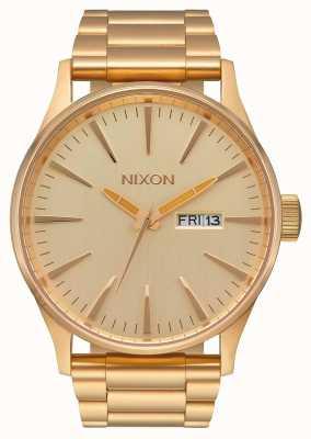 Nixon Sentry ss | todo el oro | pulsera de acero ip oro | esfera de oro A356-502-00