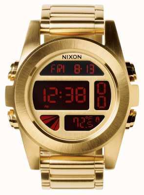 Nixon Unidad ss | todo el oro | digital | pulsera de acero ip oro | A360-502-00