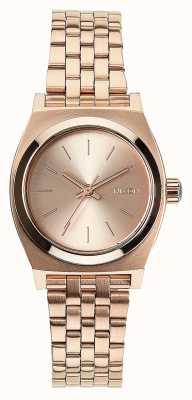 Nixon Cajero de poca monta | todo oro rosa | pulsera de acero ip oro rosa | esfera de oro rosa A399-897-00