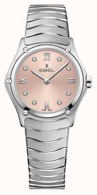 EBEL Clásico deportivo femenino | pulsera de acero inoxidable | esfera galvánica rosa 1216444A