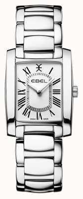 EBEL Brasilia de mujeres | pulsera de acero inoxidable | esfera blanca 1216461