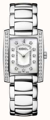 EBEL Brasilia de mujeres | pulsera de acero inoxidable | esfera madre o perla 1216463