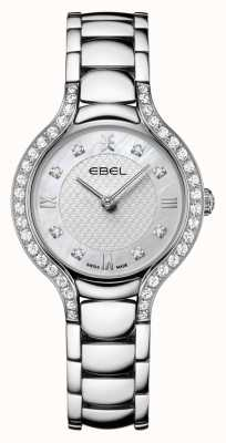 EBEL Beluga de las mujeres | pulsera de acero inoxidable | esfera de nácar | conjunto de diamantes 1216465