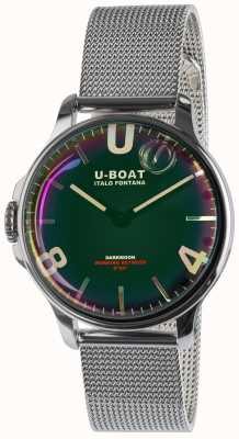 U-Boat Brazalete de metal negro de acero inoxidable de 38 mm Darkmoon 8471/MT