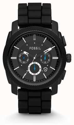 Fossil Correa de reloj caballero negro cronógrafo FS4487