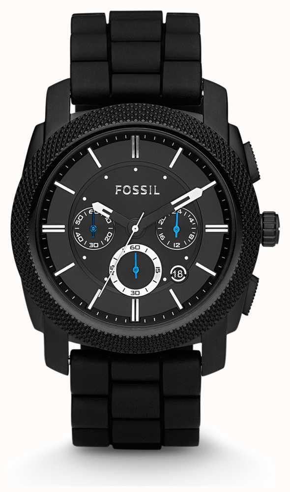 dc8abb7eea73 Fossil Reloj Para Hombre De La Correa Cronógrafo Negro FS4487 ...