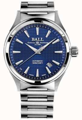 Ball Watch Company Victoria bombero | pulsera de acero | clous de paris azul NM2098C-S5J-BE