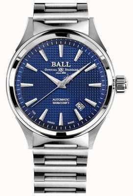 Ball Watch Company Victoria de bombero | pulsera de acero | clous de paris azul NM2098C-S5J-BE