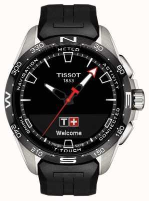 Tissot T-touch connect solar | correa de silicona negra T1214204705100