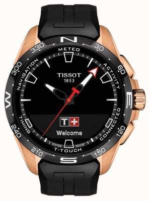 Tissot T-touch connect solar | correa de silicona negra T1214204705102