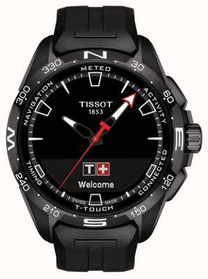 Tissot T-touch connect solar | correa de silicona negra T1214204705103