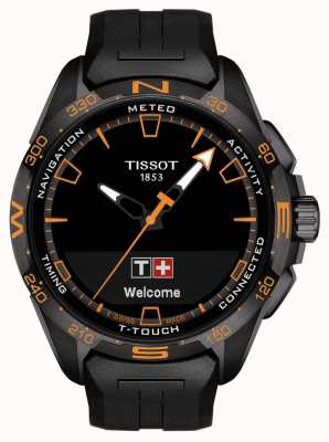 Tissot T-touch connect solar | correa de silicona negra T1214204705104