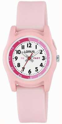 Profesor de tiempo para niños de Lorus con correa de silicona rosa R2357NX9