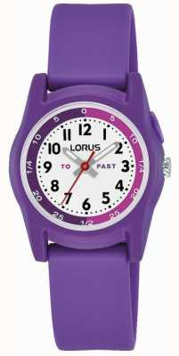 Profesor de tiempo para niños de Lorus con correa de silicona violeta R2359NX9
