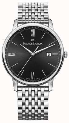 Maurice Lacroix Hombres eliros | pulsera de acero inoxidable | esfera negra EL1118-SS002-310-2