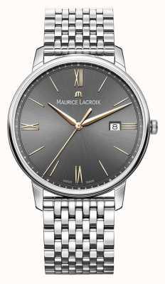 Maurice Lacroix Hombres eliros | pulsera de acero inoxidable | esfera negra / gris EL1118-SS002-311-2
