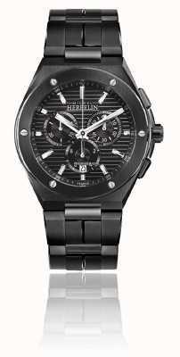 Michel Herbelin Cap camarat chrono | pulsera de acero negro | esfera negra 37645/BN14