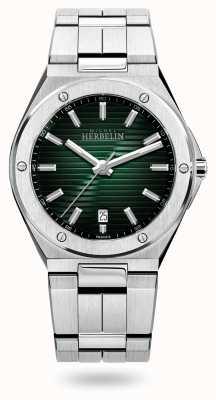 Michel Herbelin Cuarzo cap camarat | pulsera de acero inoxidable | esfera verde 12245/B16