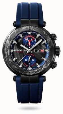 Michel Herbelin Newport régate carbone | correa de silicona azul | caja de carbono 288/CN45CB