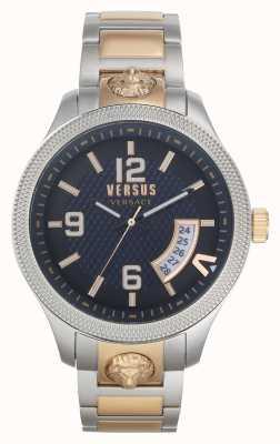 Versus Versace | hombres | reale | pulsera de acero bicolor | esfera azul | VSPVT0920