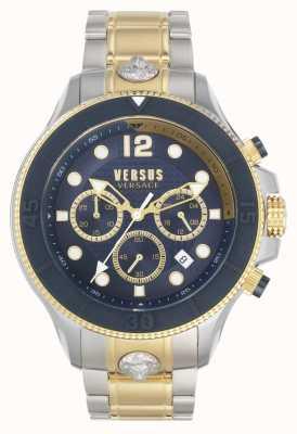 Versus Versace Volta masculino versus | pulsera de acero bicolor | esfera azul VSPVV0520