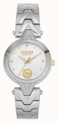 Versus Versace Mujeres v_versus forlanini | pulsera de acero inoxidable | esfera plateada VSPVN0620