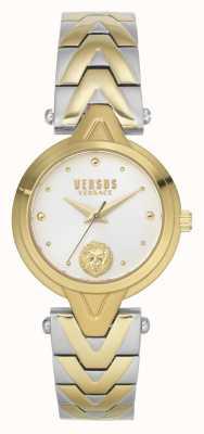 Versus Versace Mujeres v_versus forlanini | pulsera de acero bicolor | esfera plateada VSPVN1020