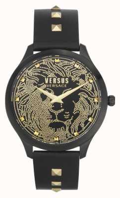 Versus Versace | mujer | domus | correa de cuero negro | esfera negra | VSPVQ0520