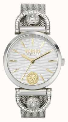Versus Versace Iseo de la mujer | pulsera de malla de acero inoxidable | esfera blanca VSPVP0420