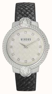 Versus Versace | mujer | muffetard | correa de cuero negro | esfera blanca | VSPLK1120