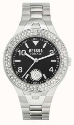 Versus Versace Vittoria para mujeres | pulsera de acero inoxidable | esfera negra VSPVO0520