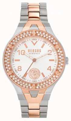 Versus Versace Vittoria para mujeres | pulsera de acero bicolor | esfera blanca VSPVO0620
