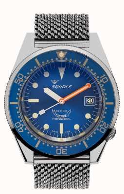 Squale 1521 malla oceánica | esfera azul | pulsera de malla de acero inoxidable 1521OCN-CINSS20