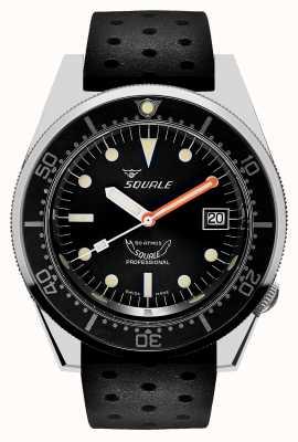 Squale 1521 clásico | correa tropical negra | esfera negra 1521CL-CINTRB20