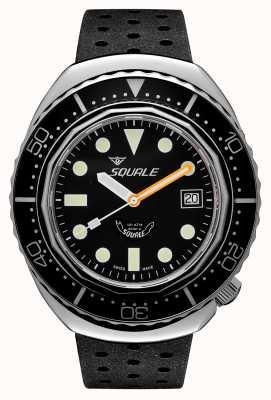 Squale 2002a puntos redondos negros | correa tropical negra | esfera negra B083401-CINTRB22