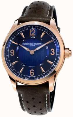 Frederique Constant Reloj inteligente de relojería exclusivo | correa de cuero marrón FC-282AN5B4