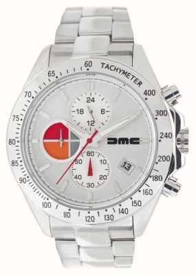 DeLorean Motor Company Watches 1981 acero plateado   pulsera de acero inoxidable   esfera plateada DMC-9