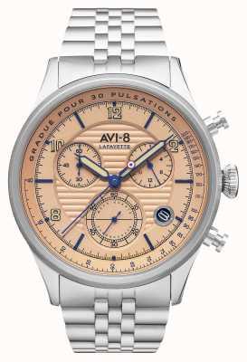 AVI-8 Flyboy lafayette | cronógrafo | pulsera de acero inoxidable AV-4076-44