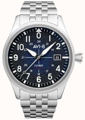 AVI-8 Flyboy | automático | esfera azul | pulsera de acero inoxidable AV-4075-22