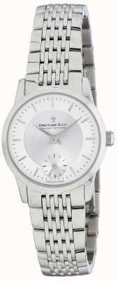 Dreyfuss Reloj de pulsera de acero inoxidable plateado para mujer DLB00001/02