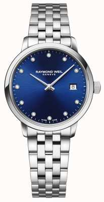Raymond Weil Toccata | 11 esfera azul diamante | pulsera de acero inoxidable 5985-ST-50081