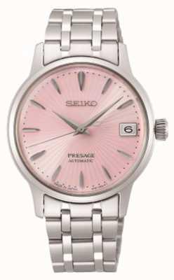 Seiko Presagio   mujer   pulsera de acero inoxidable   esfera rosa SRP839J1