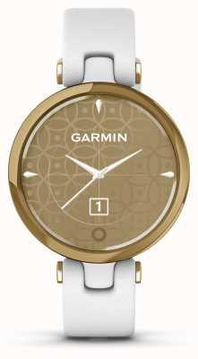 Garmin Edición clásica Lily | bisel de oro claro | estuche blanco | correa de cuero italiano 010-02384-B3